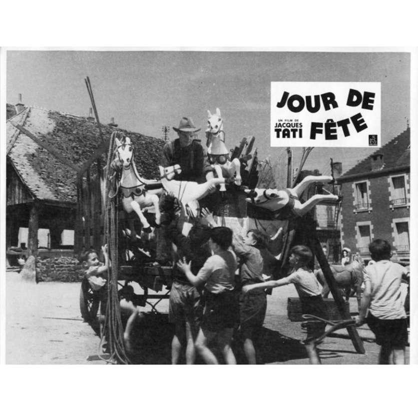JOUR DE FETE Lobby Card N8 9x12 in. French - 1960'S - Jacques Tati, Paul Frankeur