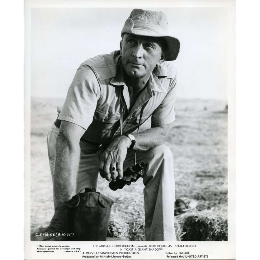 CAST OF A GIANT SHADOW Movie Still N2 8x10 in. USA - 1966 - Melville Shavelson, Kirk Douglas