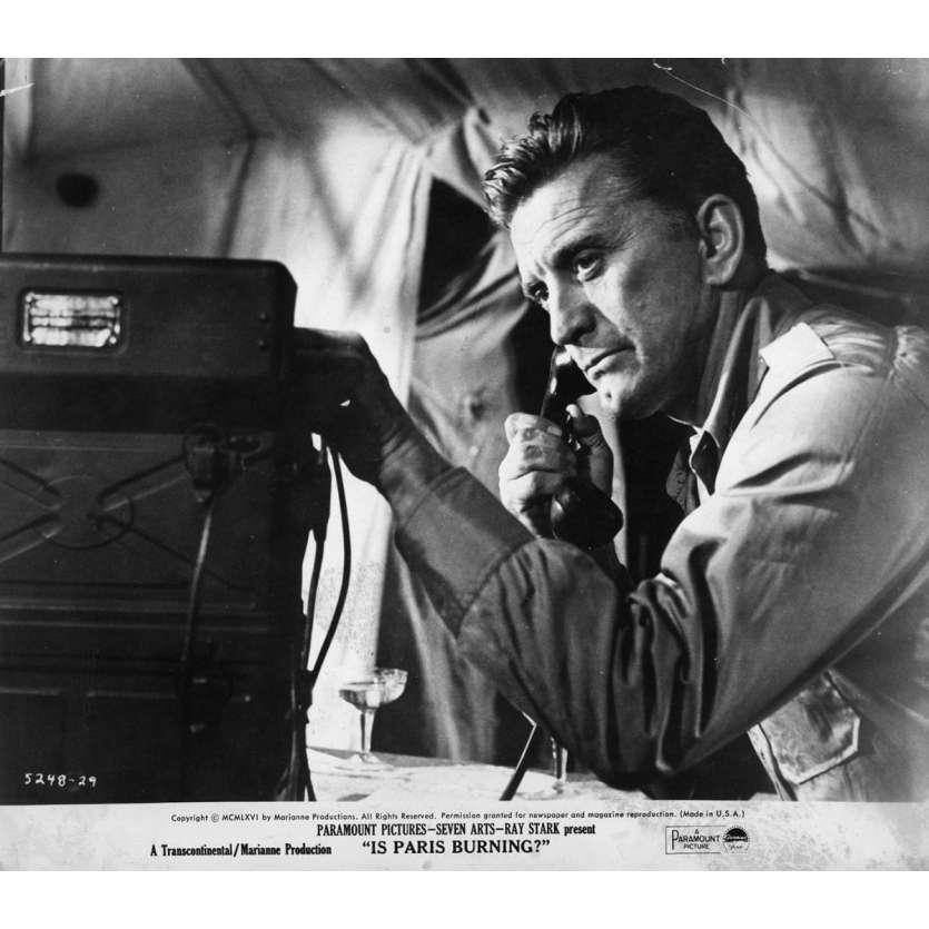 IS PARIS BURNING Movie Still 8x10 in. USA - 1966 - René Clément, Jean-Paul Belmondo, Kirk Douglas