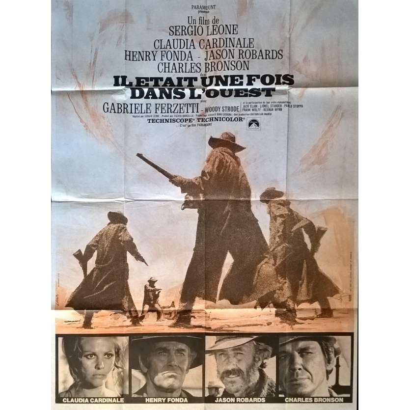 ONCE UPON A TIME IN THE WEST Movie Poster 47x63 in. French - 1970 - Sergio Leone, Charles Bronson