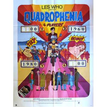 QUADROPHENIA Movie Poster 47x63 in. French - 1980 - Frank Roddam, The Who