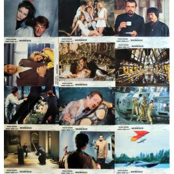 MOONRAKER Lobby Cards x12 9x12 in. French - 1979 - James Bond, Roger Moore