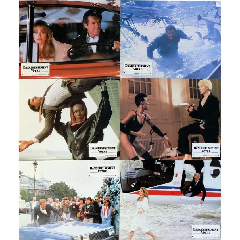DANGEREUSEMENT VOTRE Photos de film x6 Jeu A 21x30 cm - 1985 - Roger Moore, John Glen