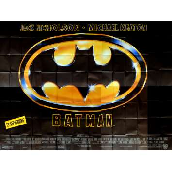BATMAN Movie Poster 158x118 in. French - 1989 - Tim Burton, Jack Nicholson