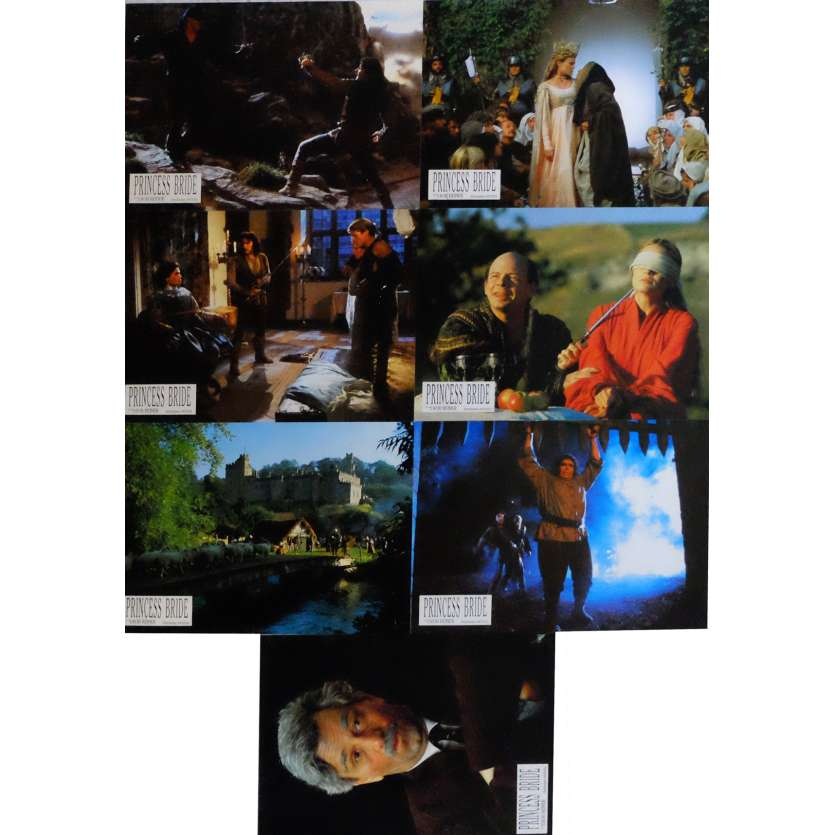 THE PRINCESS BRIDE Lobby Cards x7 9x12 in. French - 1987 - Rob Reiner, Robin Wright