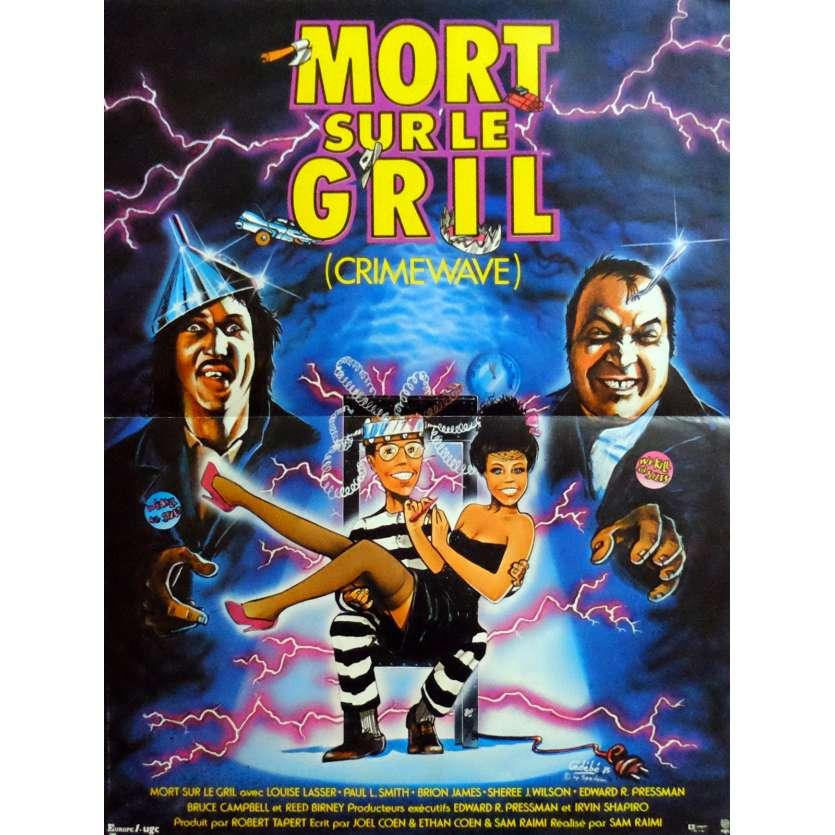 CRIMEWAVE Movie Poster 15x21 in. French - 1985 - Sam Raimi, Brion James