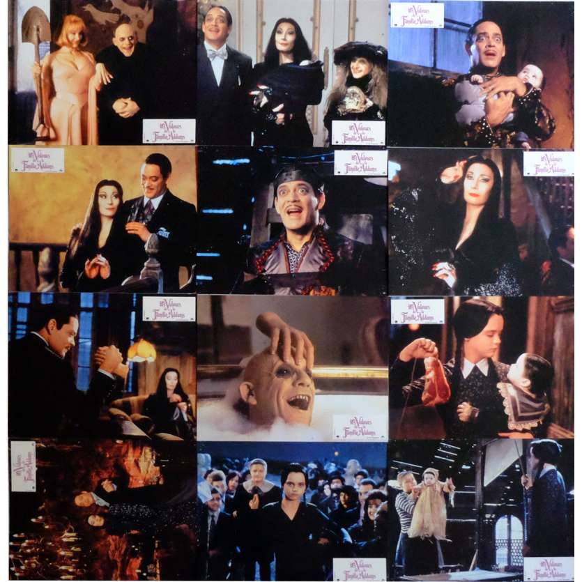 ADDAMS FAMILY VALUES Lobby Cards x11 9x12 in. French - 1991 - Barry Sonnefeld, Christina Ricci