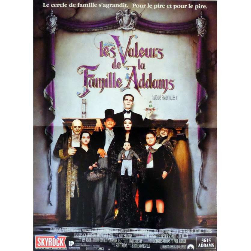 ADDAMS FAMILY VALUES Movie Poster 15x21 in. French - 1991 - Barry Sonnefeld, Christina Ricci