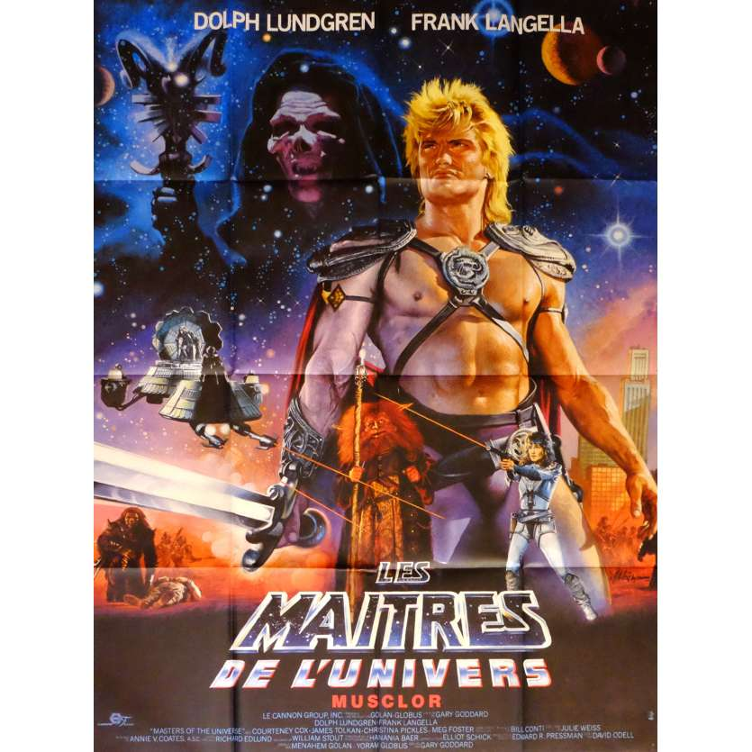 MASTERS OF THE UNIVERSE Movie Poster 47x63 in. French - 1987 - Gary Goddard, Dolph Lundgren