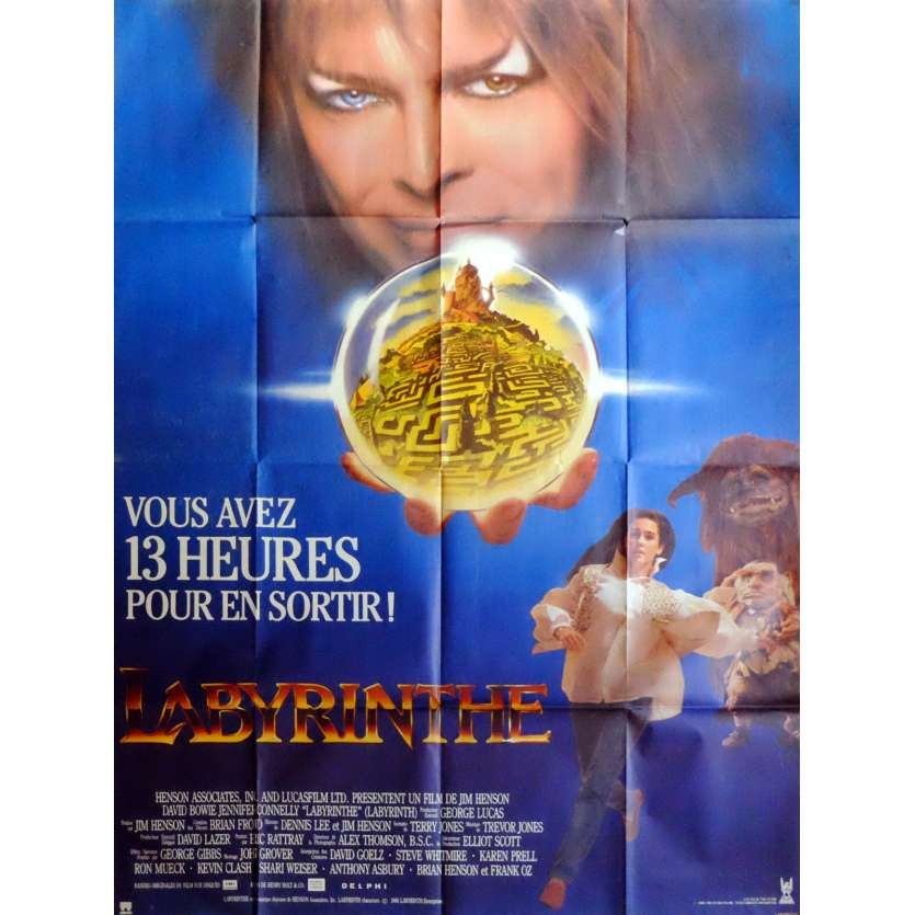 LABYRINTH Movie Poster 47x63 in. French - 1986 - Jim Henson, David Bowie