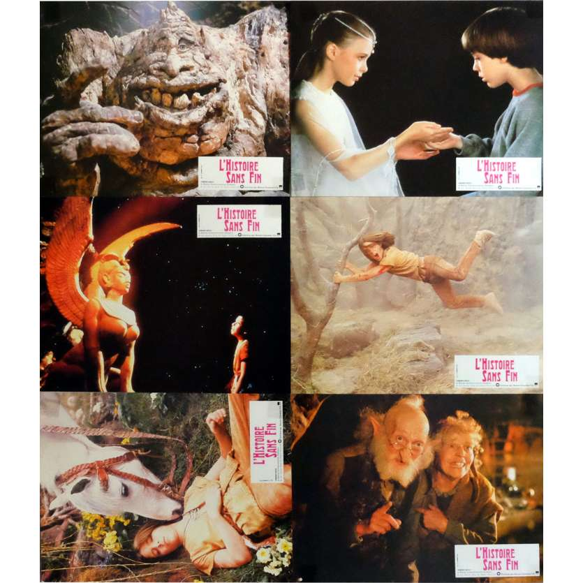 THE NEVERENDING STORY Lobby Cards x8 9x12 in. French - 1984 - Wolfgang Petersen, Barret Oliver