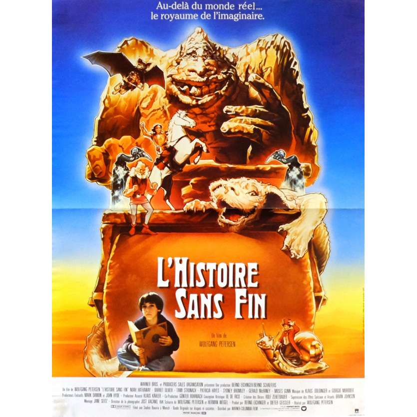 THE NEVERENDING STORY Movie Poster 15x21 in. French - 1984 - Wolfgang Petersen, Barret Oliver