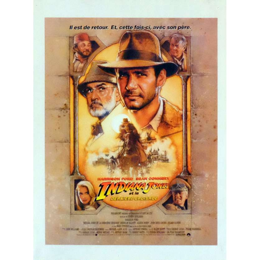 INDIANA JONES AND THE LAST CRUSADE Herald 9x12 in. French - 1989 - Steven Spielberg, Harrison Ford