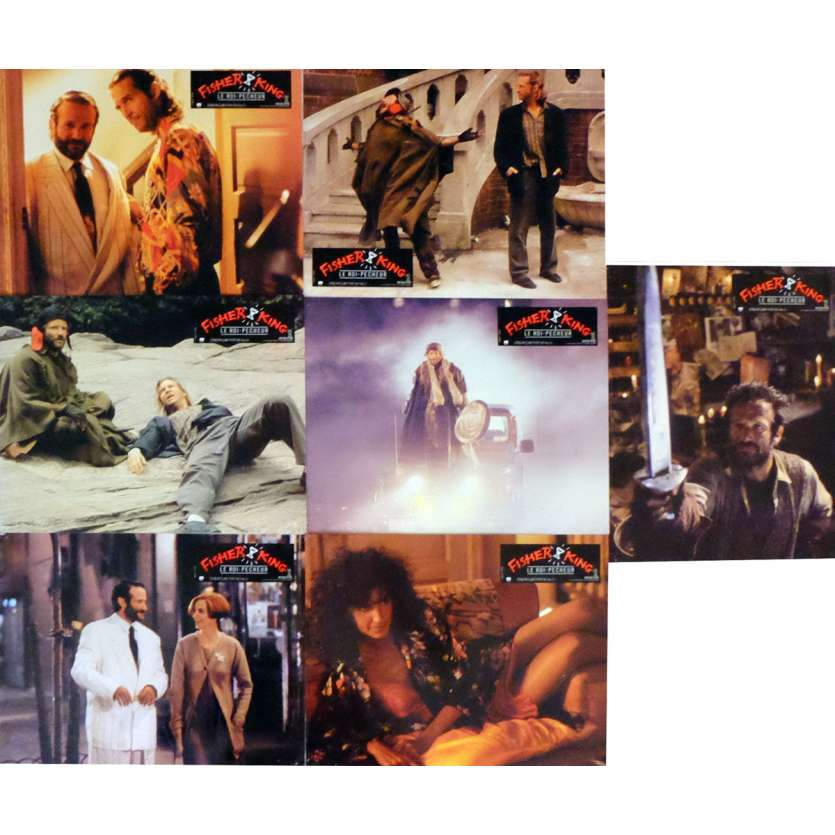 FISHER KING Lobby Cards 9x12 in. French - 1991 - Terry Gilliam, Jeff Bridges