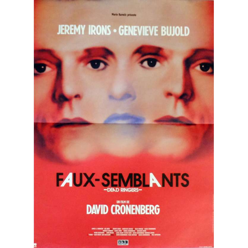 DEAD RINGERS Movie Poster 15x21 in. French - 1988 - David Cronenberg, Jeremy Irons