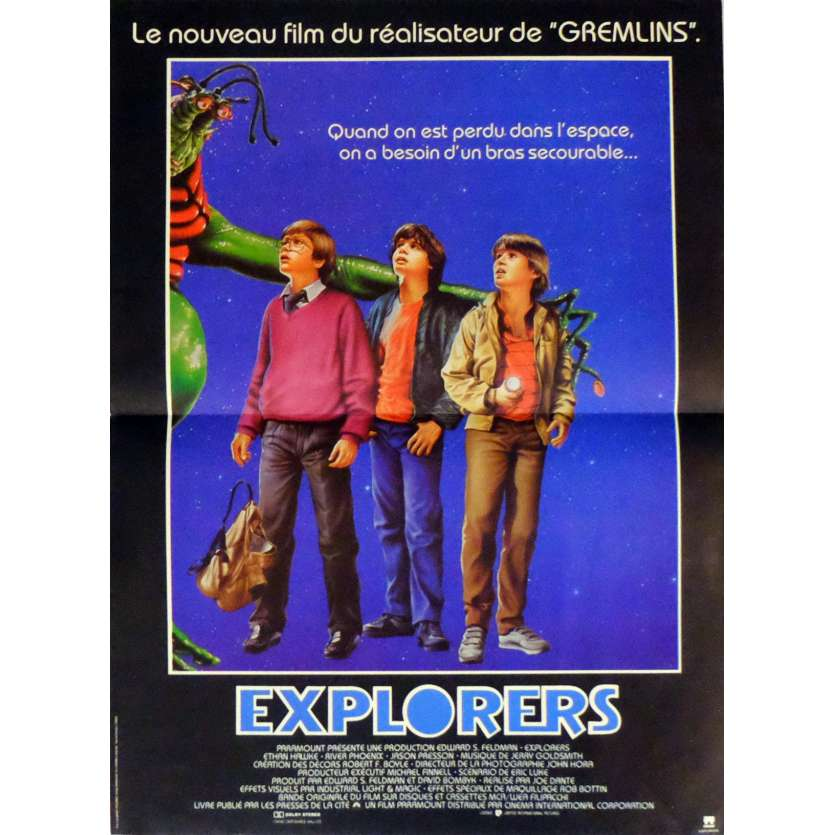EXPLORERS Movie Poster 15x21 in. French - 1985 - Joe Dante, Ethan Hawke