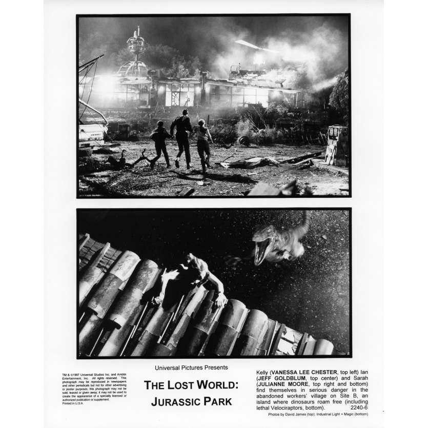 JURASSIC PARK 2 THE LOST WORLD Movie Still N7 8x10 in. USA - 1997 - Steven Spielberg, Jeff Goldblum