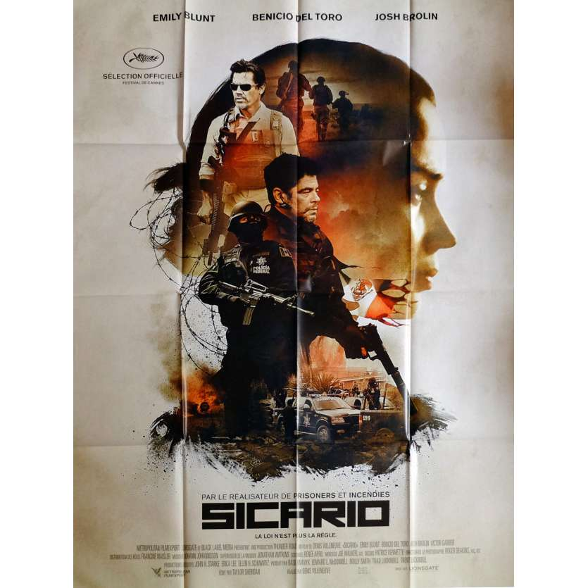 SICARIO Movie Poster 47x63 in. French - 2015 - Dennis Villeneuve, Benicio Del Toro