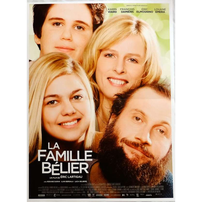 LA FAMILLE BELIER Movie Poster 15x21 in. French - 2014 - Eric Lartigau, Karin Viard