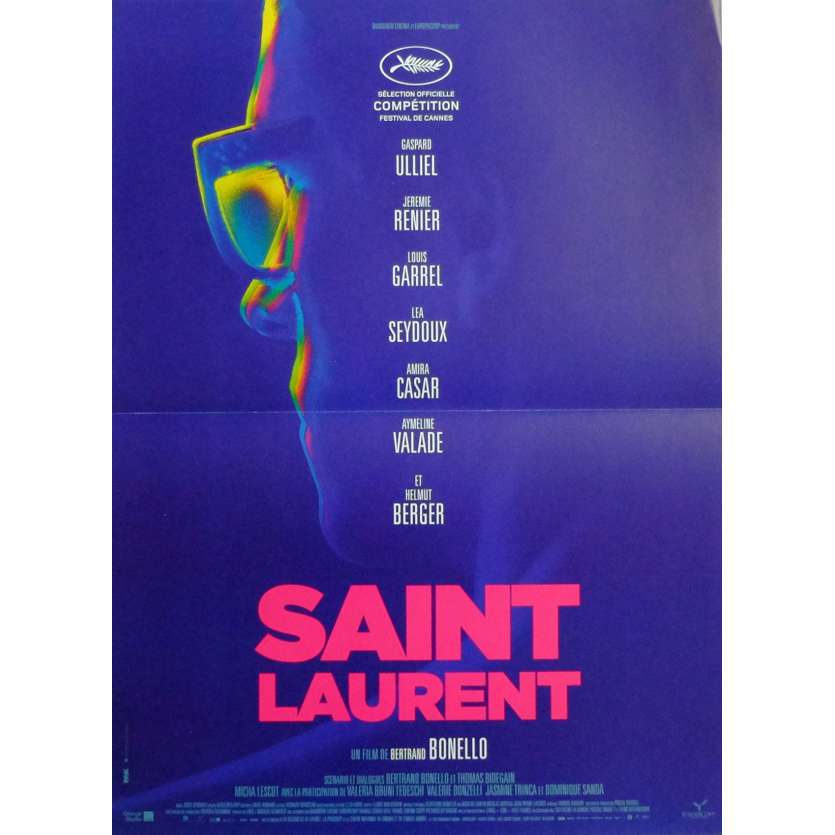 SAINT LAURENT Movie Poster 15x21 in. French - 2014 - Bertrand Bonello, Gaspar Ulliel
