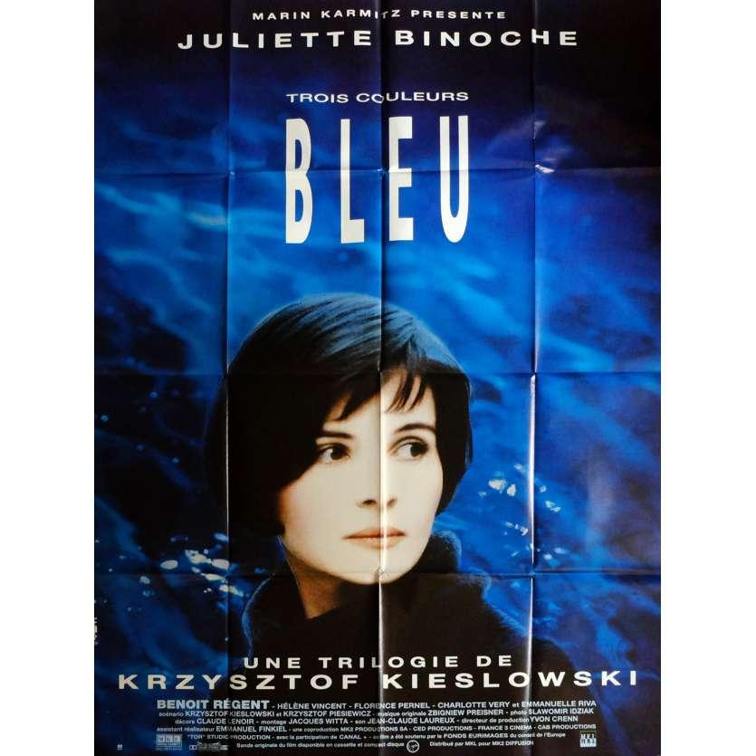THREE COLORS - BLUE Movie Poster 47x63 in. French - 1993 - Krzysztof Kieslowski, Juliette Binoche