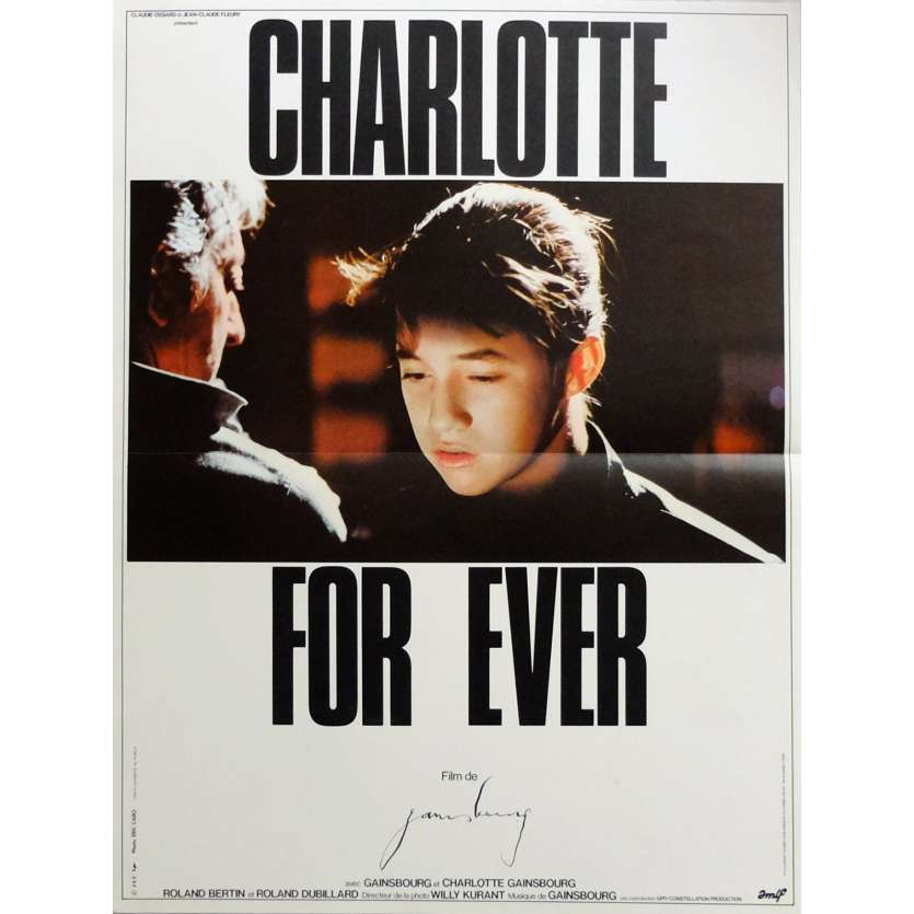 CHARLOTTE FOR EVER Movie Poster 15x21 in. French - 1986 - Serge Gainsbourg, Charlotte Gainsbourg