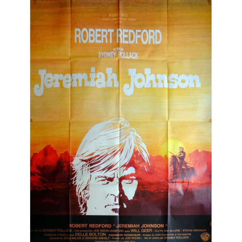JEREMIAH JOHNSON Movie Poster 47x63 in. French - 1972 - Sidney Pollack, Robert Redford