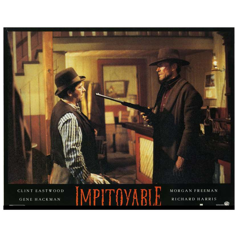 UNFORGIVEN Lobby Card N5 9x12 in. French - 1992 - Clint Eastwood, Gene Hackman
