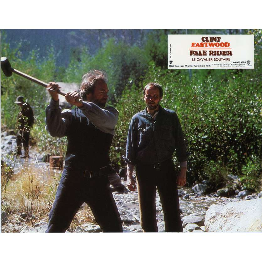 PALE RIDER Lobby Card N2 9x12 in. French - 1985 - Clint Eastwood,