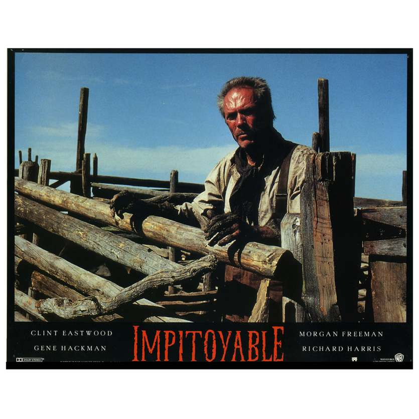 UNFORGIVEN Lobby Card N4 9x12 in. French - 1992 - Clint Eastwood, Gene Hackman