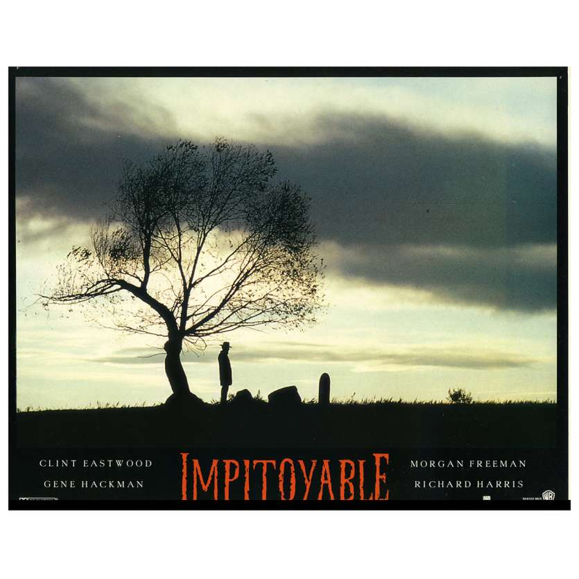 UNFORGIVEN Lobby Card N2 9x12 in. French - 1992 - Clint Eastwood, Gene Hackman