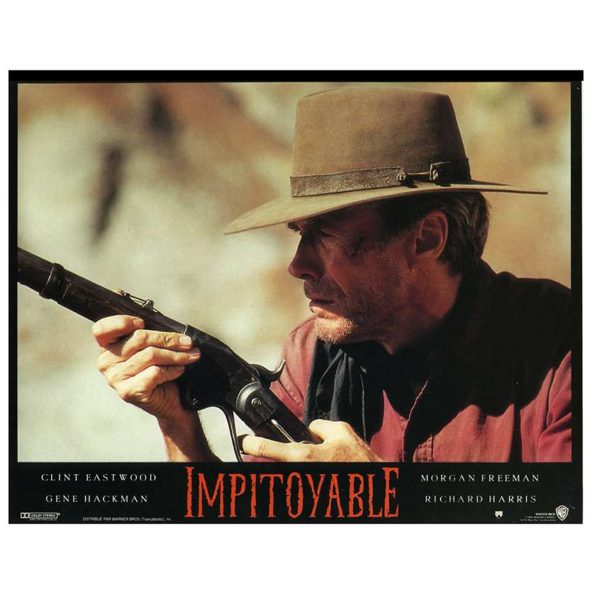UNFORGIVEN Lobby Card N1 9x12 in. French - 1992 - Clint Eastwood, Gene Hackman
