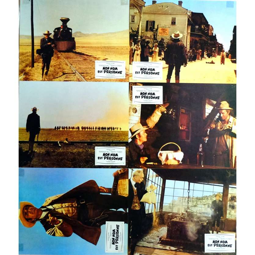 MY NAME IS NOBODY Lobby Cards x6 9x12 in. French - 1973 - Tonino Valerii, Henry Fonda, Terence Hill