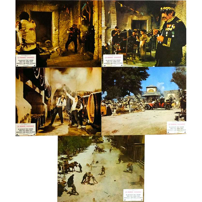 THE WILD BUNCH Lobby Cards x5 9x12 in. French - 1969 - Sam Peckinpah, Robert Ryan