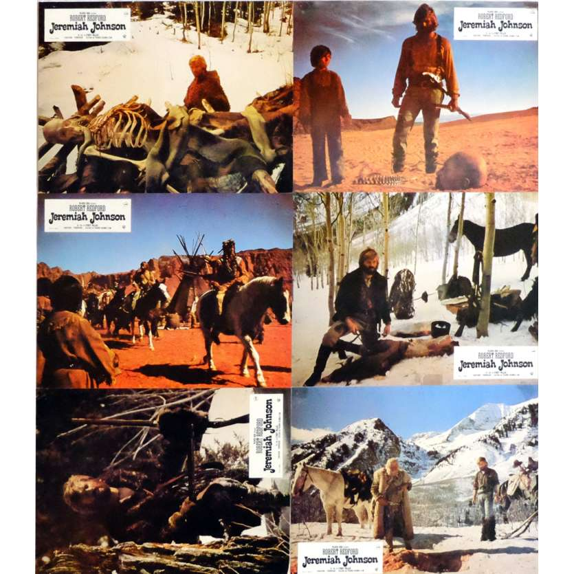 JEREMIAH JOHNSON Lobby Cards x6 9x12 in. French - 1972 - Sidney Pollack, Robert Redford