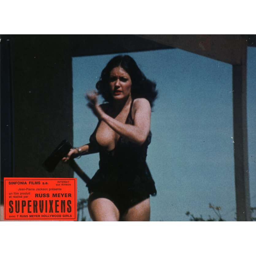 SUPERVIXENS Lobby Cards N8 7x9 in. French - 1975 - Russ Meyer, Charles Napier