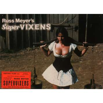 SUPERVIXENS Lobby Cards N5 7x9 in. French - 1975 - Russ Meyer, Charles Napier