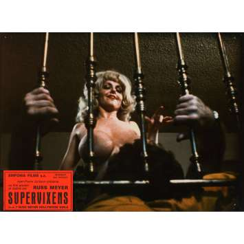 SUPERVIXENS Lobby Cards N4 7x9 in. French - 1975 - Russ Meyer, Charles Napier