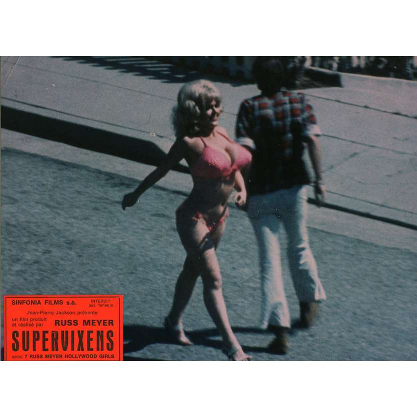 SUPERVIXENS Lobby Cards N1 7x9 in. French - 1975 - Russ Meyer, Charles Napier