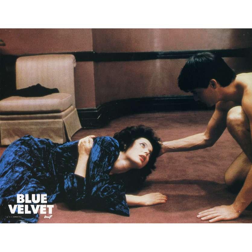 BLUE VELVET Lobby Card N3 9x12 in. French - 1986 - David Lynch, Isabella Rosselini