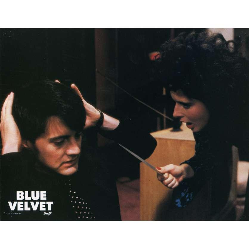 BLUE VELVET Lobby Card N4 9x12 in. French - 1986 - David Lynch, Isabella Rosselini
