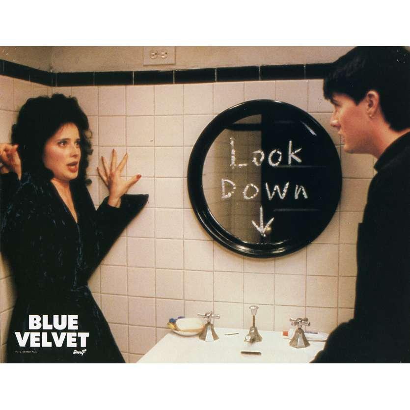 BLUE VELVET Lobby Card N7 9x12 in. French - 1986 - David Lynch, Isabella Rosselini