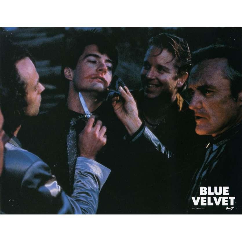 BLUE VELVET Lobby Card N8 9x12 in. French - 1986 - David Lynch, Isabella Rosselini