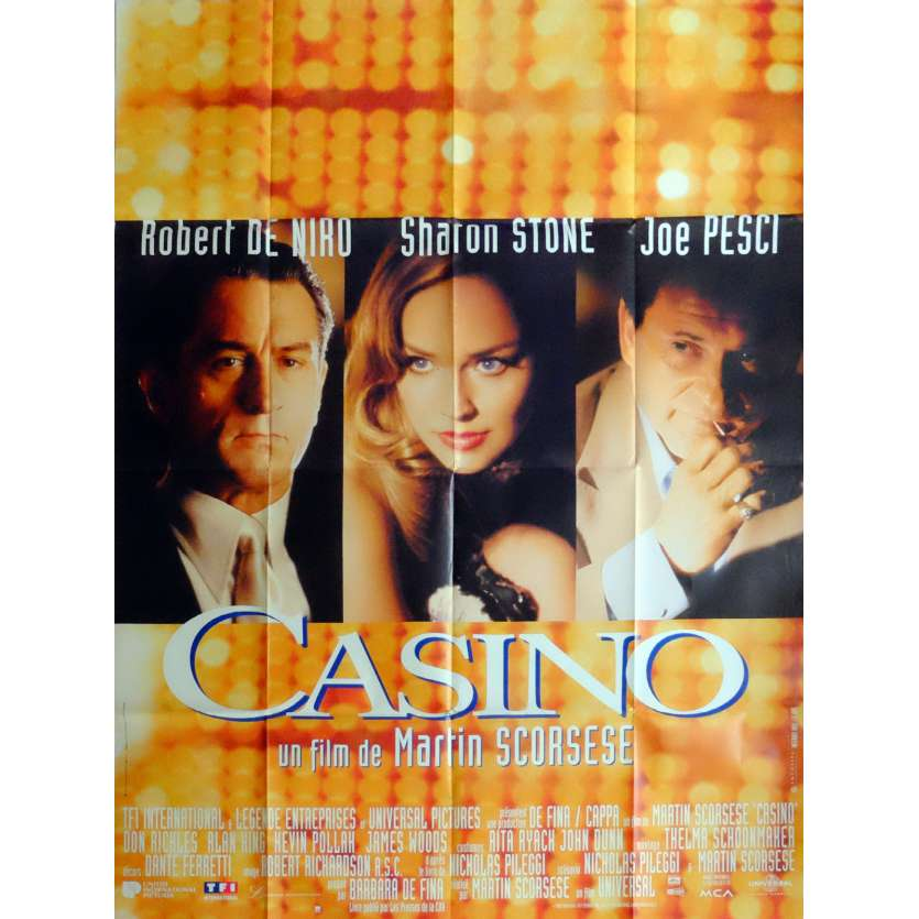 CASINO Affiche de film 120x160 cm - 1995 - Robert de Niro, Martin Scorsese