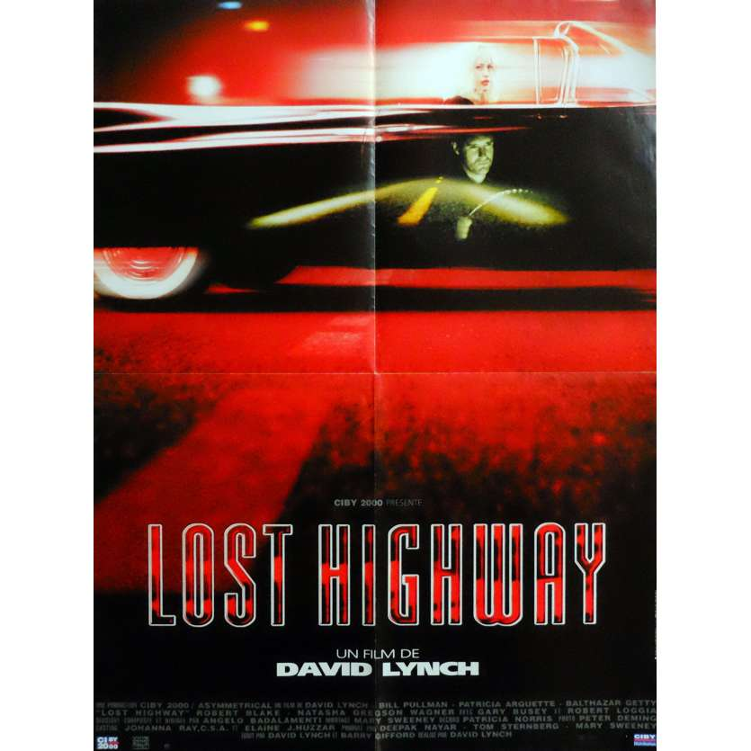 LOST HIGHWAY Movie Poster 23x32 in. French - 1997 - David Lynch, Patricia Arquette