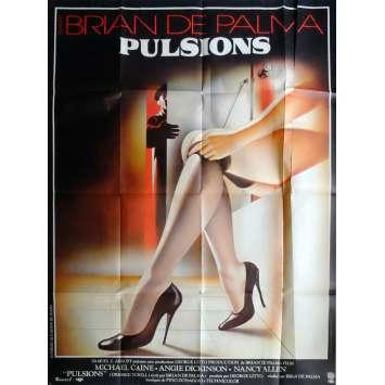 PULSIONS Affiche de film 120x160 cm - 1980 - Michael Caine, Brian de Palma