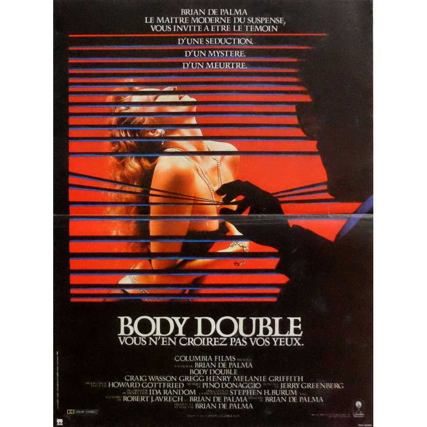 BODY DOUBLE Movie Poster 15x21 in. French - 1984 - Brian de Palma, Melanie Griffith