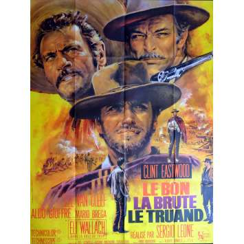 GOOD, THE BAD & THE UGLY French 1p R70s Clint Eastwood, C8