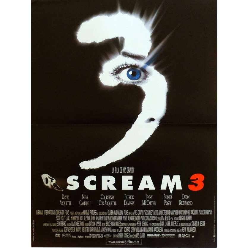 SCREAM 3 Affiche de film 40x60 cm - 2000 - Neve Campbell, Wes Craven