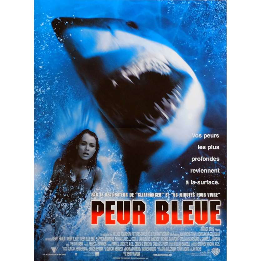 DEEP BLUE SEA Movie Poster 15x21 in. French - 1999 - Renny Harlin, Thomas Jane